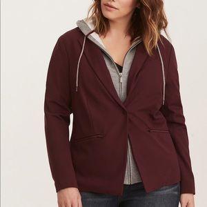 Torrid layered hooded blazer size 00